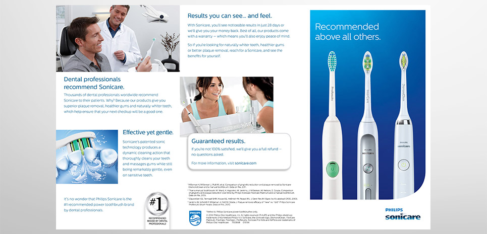 Philips Sonicare Recommending Brochure - 1